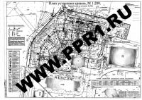 Образец ППРк КБ-503Б и КБМ-401П. Лист 1. План установки кранов. Первый этап. М 1:200. Подробности на сайте http://www.ppr1.ru/.